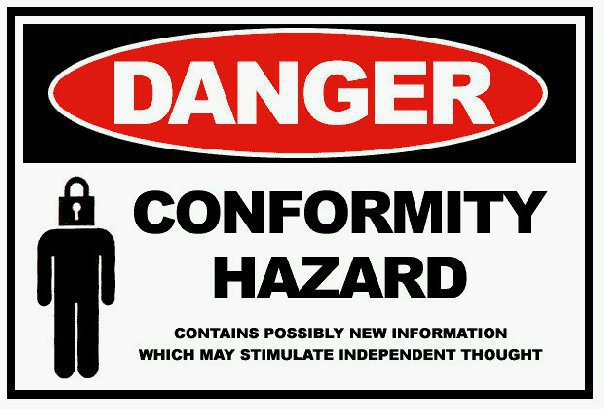 conformity hazard - contains possibly new information that may stimulate thought